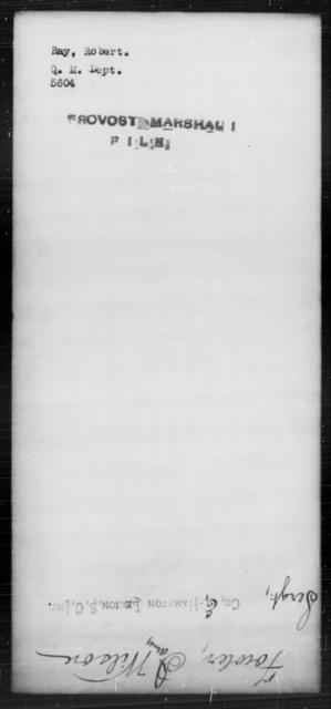Ray, Robert - State: [Blank] - Year: [Blank]
