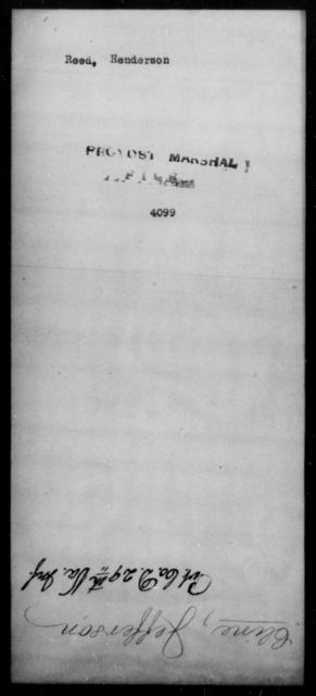 Reed, Henderson - State: [Blank] - Year: [Blank]