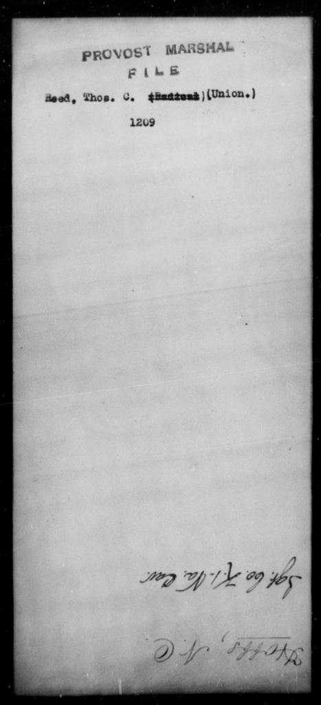 Reed, Thos C - State: [Blank] - Year: [Blank]