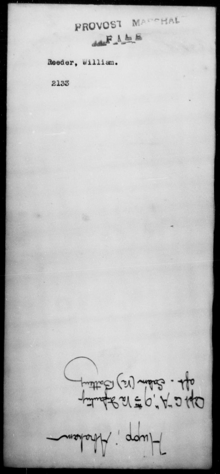 Reeder, William - State: [Blank] - Year: [Blank]
