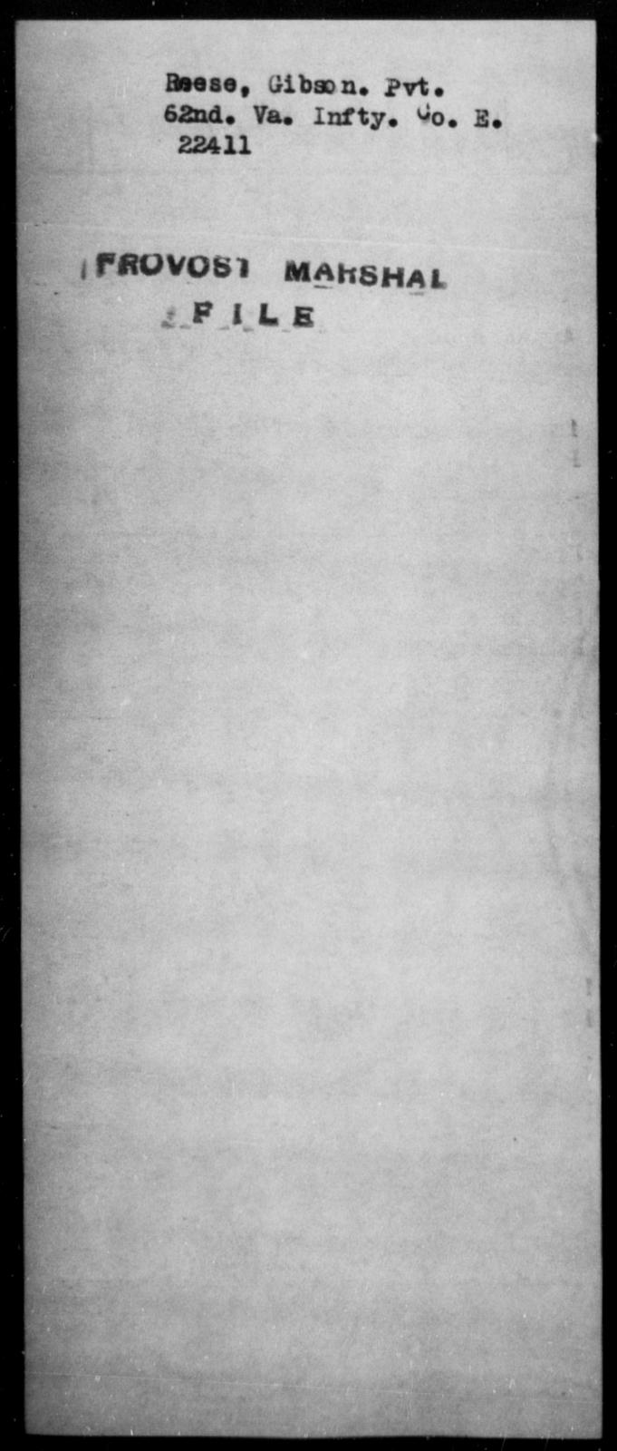 Reese, Gibson - State: Virginia - Year: [Blank]