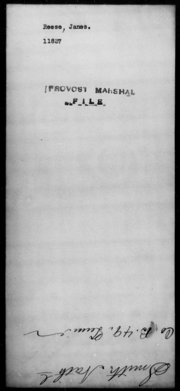 Reese, Janes - State: [Blank] - Year: [Blank]