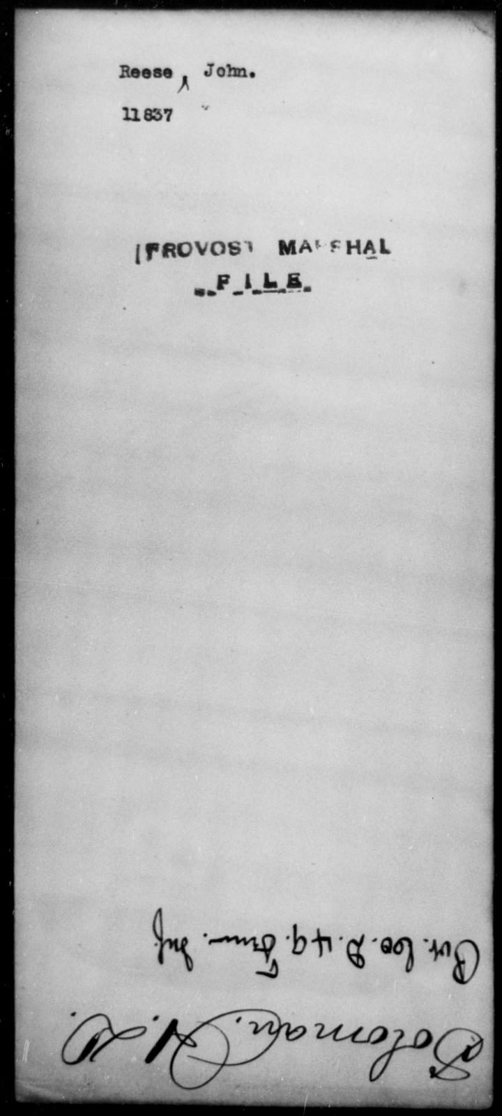 Reese, John - State: [Blank] - Year: [Blank]