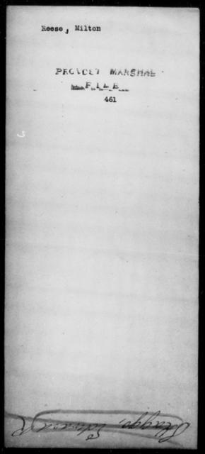 Reese, Milton - State: [Blank] - Year: [Blank]