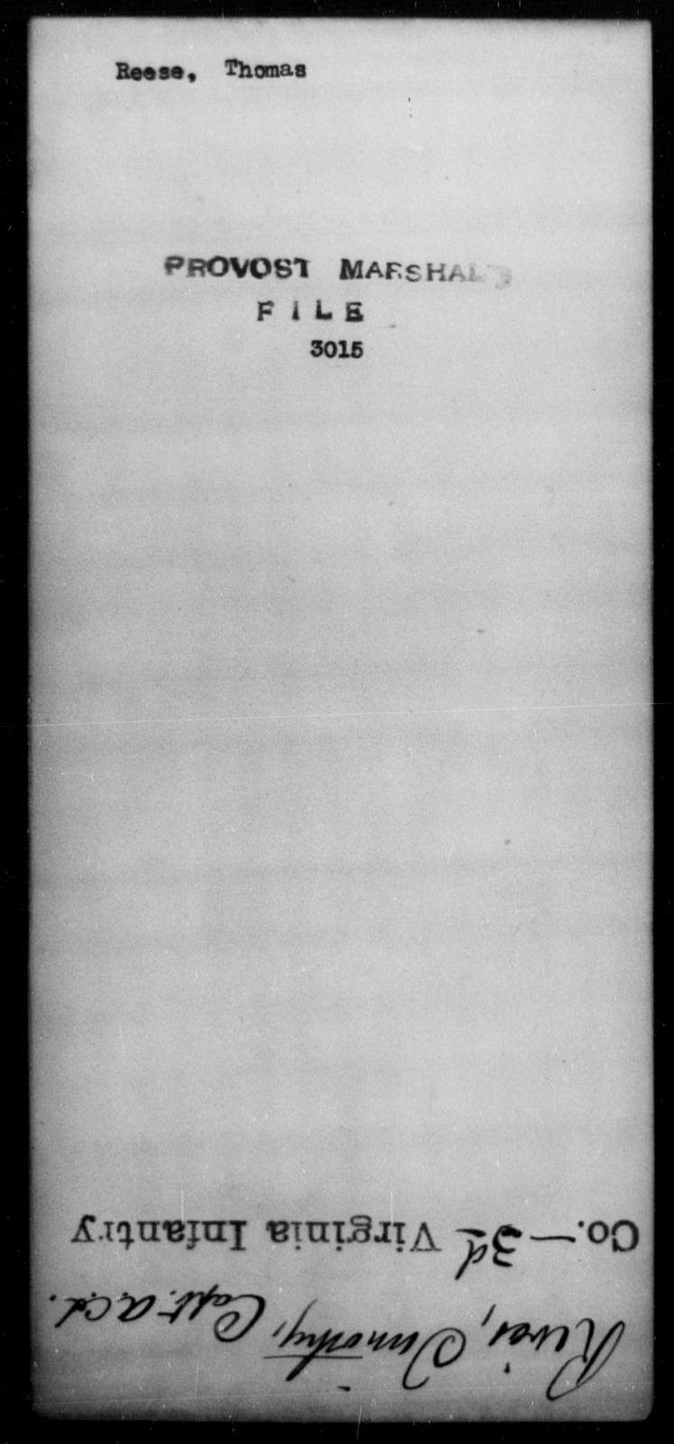 Reese, Thomas - State: [Blank] - Year: [Blank]
