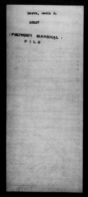 Reeve, Lewis B - State: [Blank] - Year: [Blank]