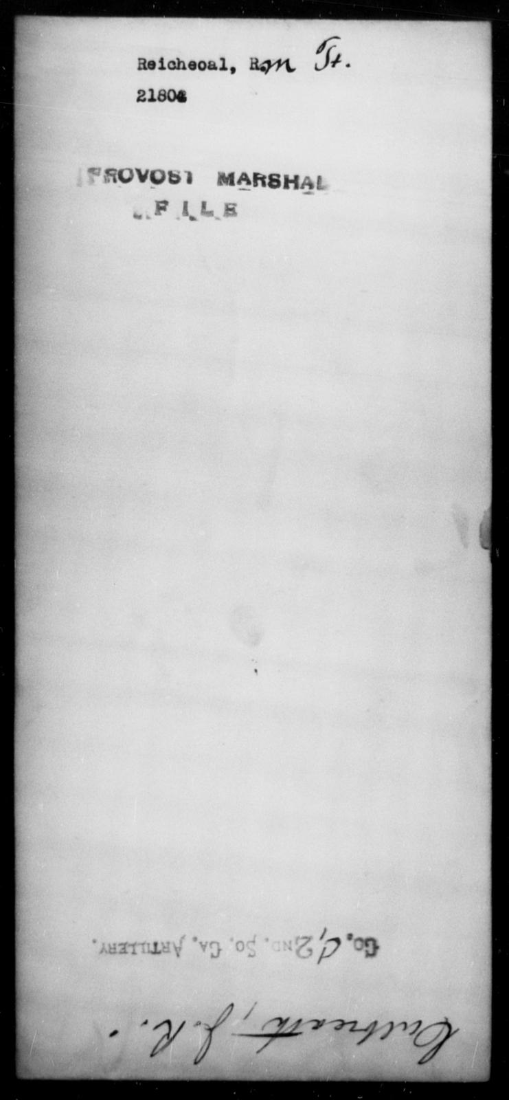 Reicheoal, R M - State: [Blank] - Year: [Blank]