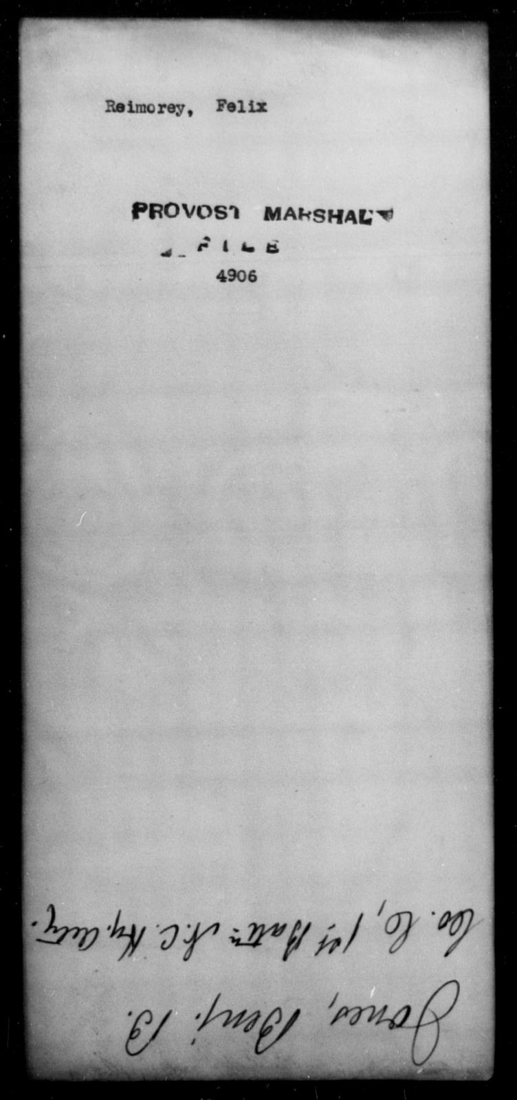 Reimorey, Felix - State: [Blank] - Year: [Blank]