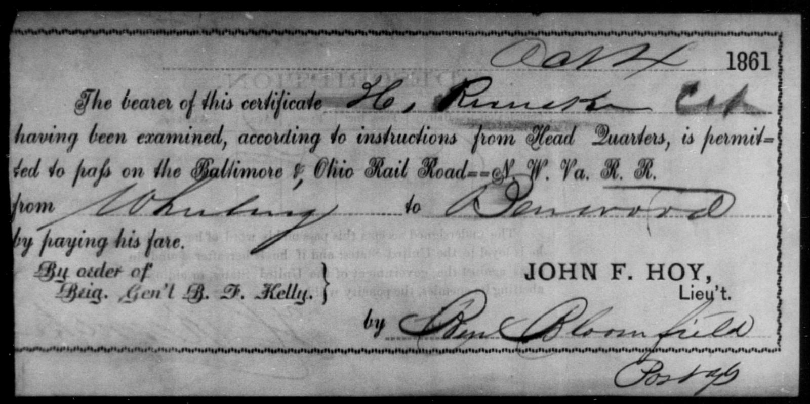 Reincke, H - State: Ohio - Year: 1861