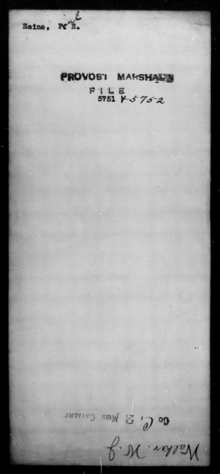 Reine, Paul R - State: [Blank] - Year: [Blank]