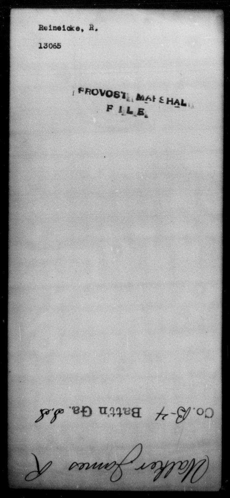 Reinecke, R - State: [Blank] - Year: [Blank]