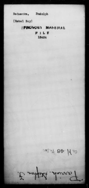 Reinecke, Rudolph - State: [Blank] - Year: [Blank]