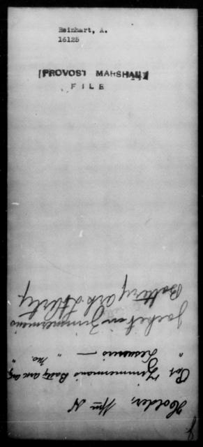 Reinhard, A - State: [Blank] - Year: 1865