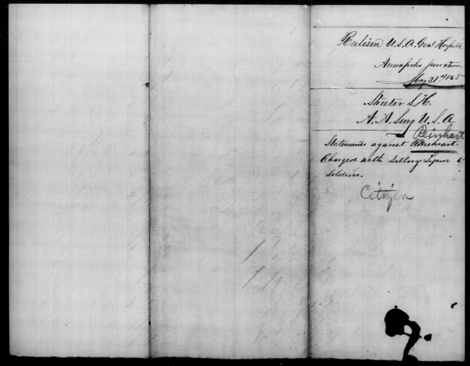Reinhard, [Blank] - State: [Blank] - Year: 1865