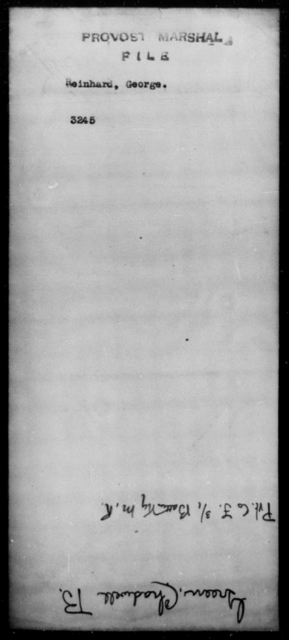 Reinhard, George - State: [Blank] - Year: [Blank]