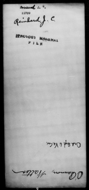 Reinhard, J C - State: [Blank] - Year: [Blank]