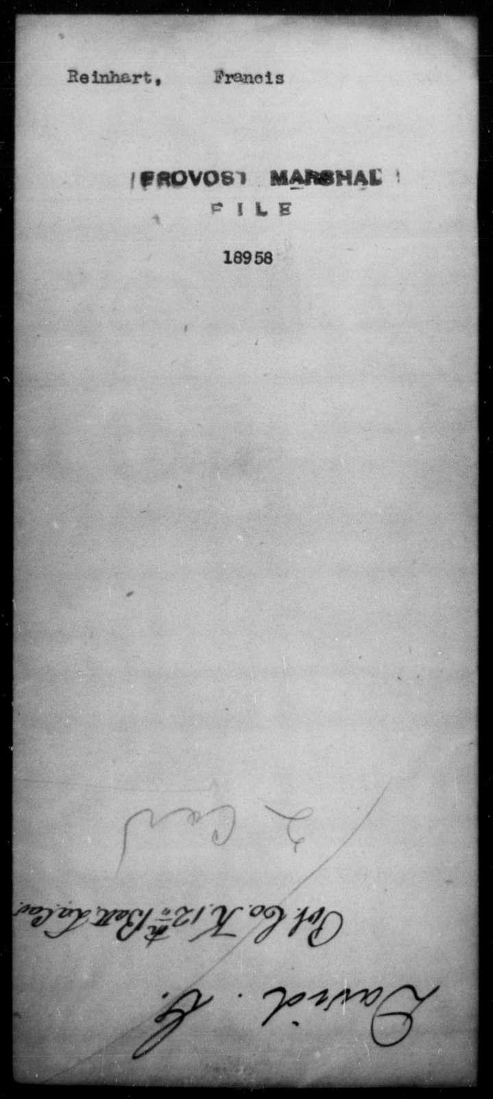 Reinhart, Francis - State: [Blank] - Year: [Blank]