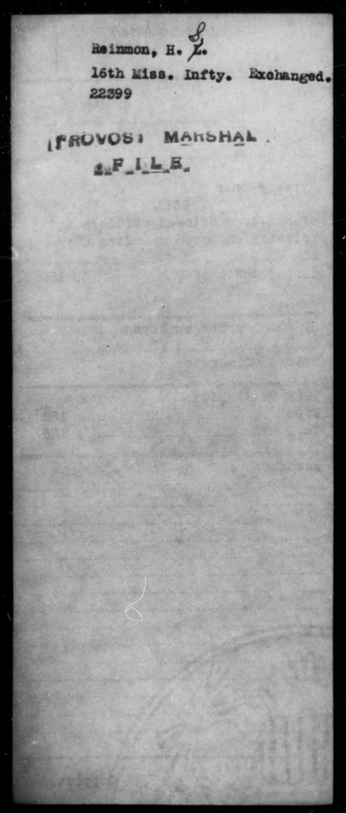 Reinmon, H S - State: Mississippi - Year: [Blank]