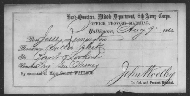 Remmington, Jesse - State: [Blank] - Year: 1864