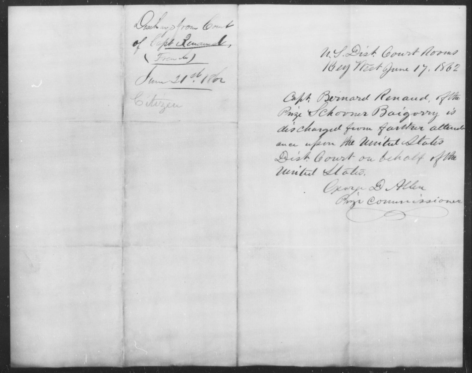 Renaud, Bernard - State: [Blank] - Year: 1862