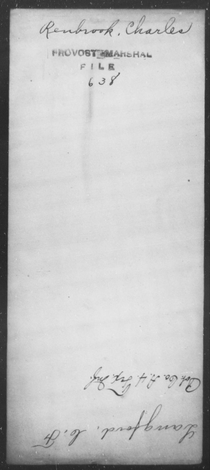 Renbrook, Charles - State: [Blank] - Year: [Blank]