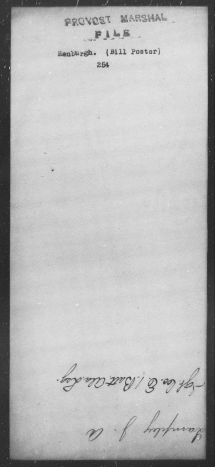 Renburgh, [Blank] - State: [Blank] - Year: [Blank]