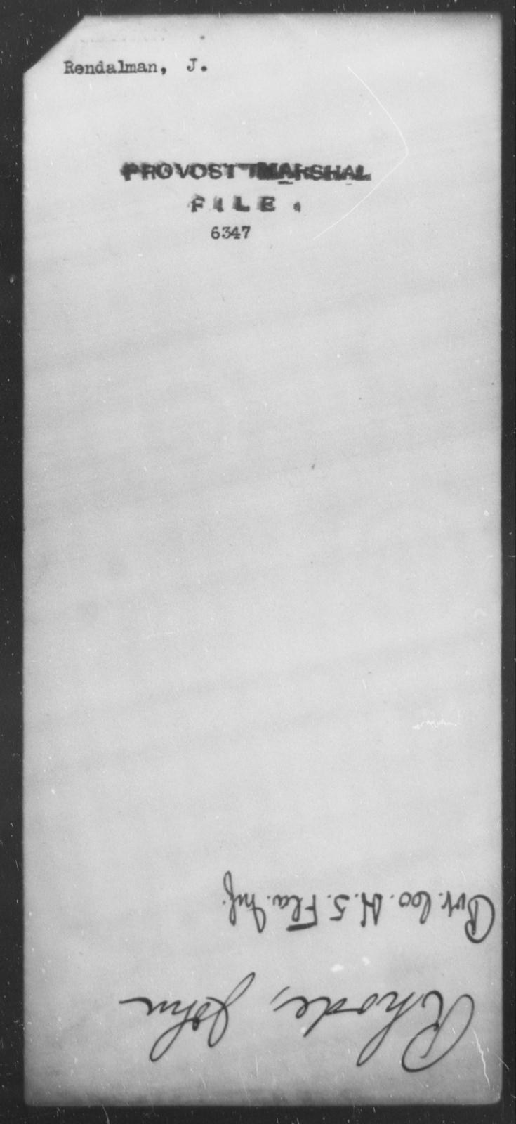 Rendalman, J - State: [Blank] - Year: [Blank]