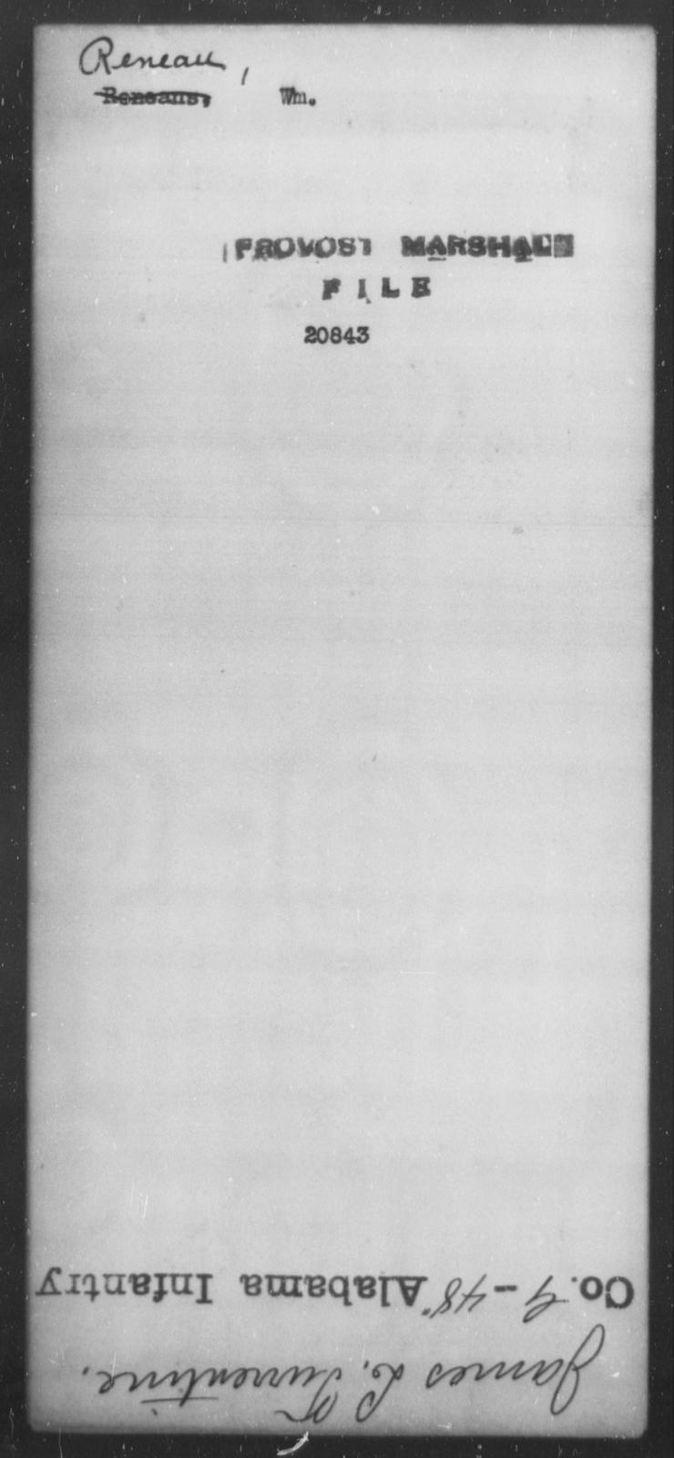 Reneau, Wm - State: [Blank] - Year: [Blank]