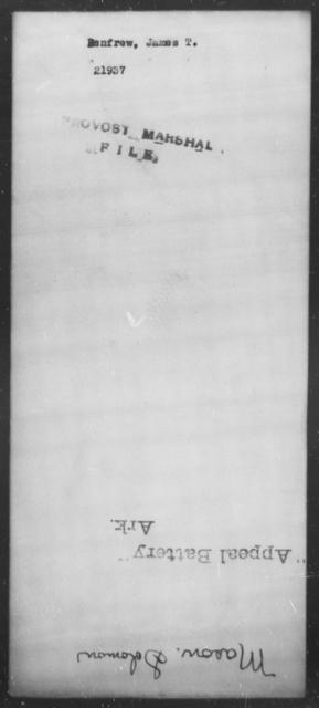 Renfrew, James T - State: [Blank] - Year: [Blank]