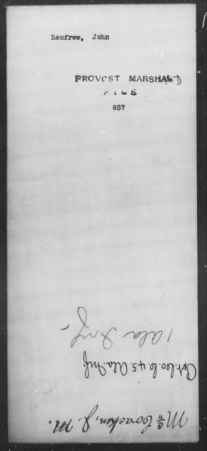 Renfrew, John - State: [Blank] - Year: [Blank]