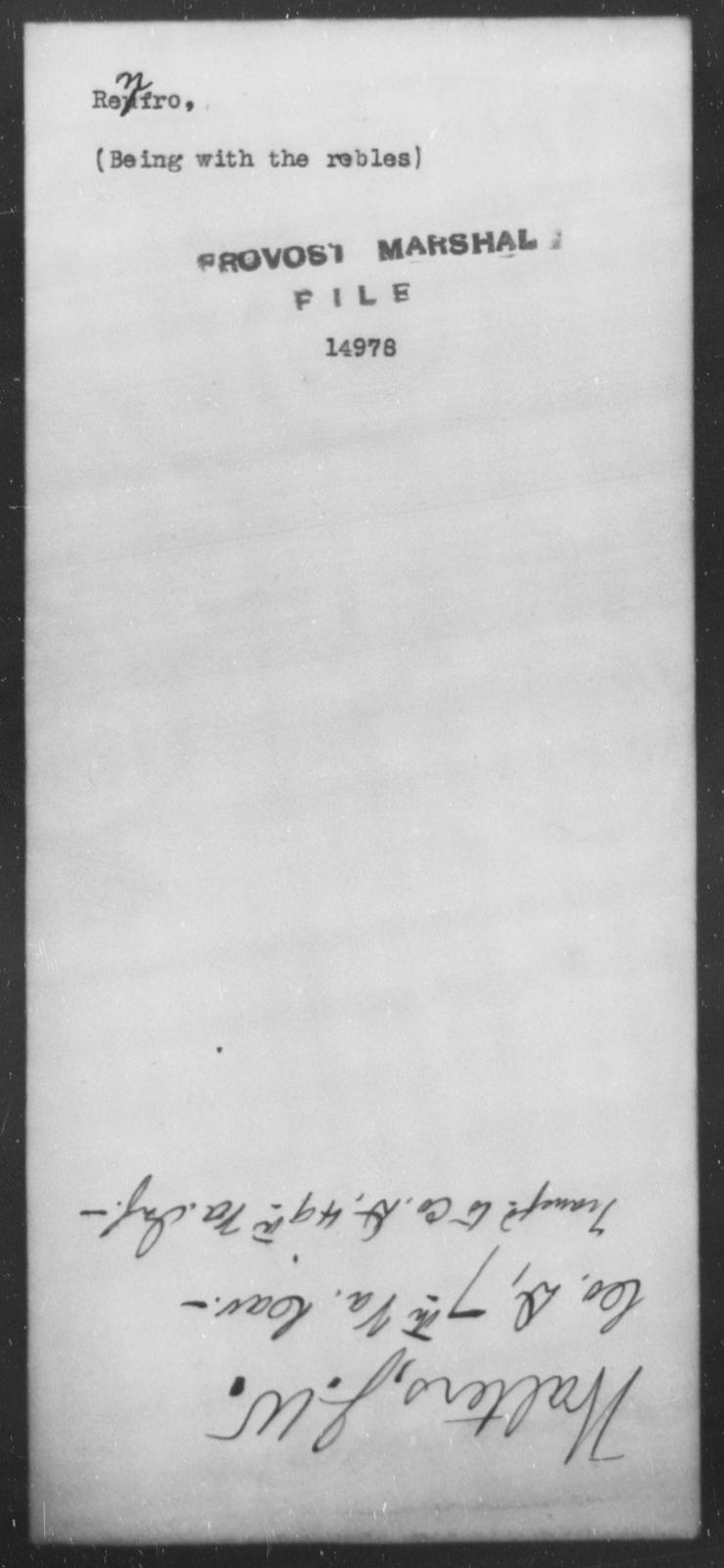 Renfro, [Blank] - State: [Blank] - Year: [Blank]