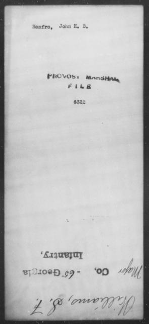 Renfro, John H B - State: [Blank] - Year: [Blank]