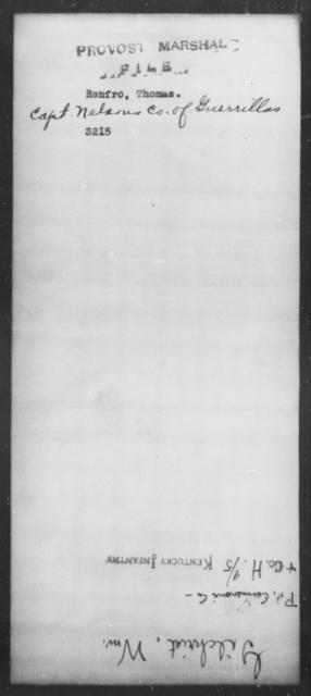 Renfro, Thomas - State: [Blank] - Year: [Blank]