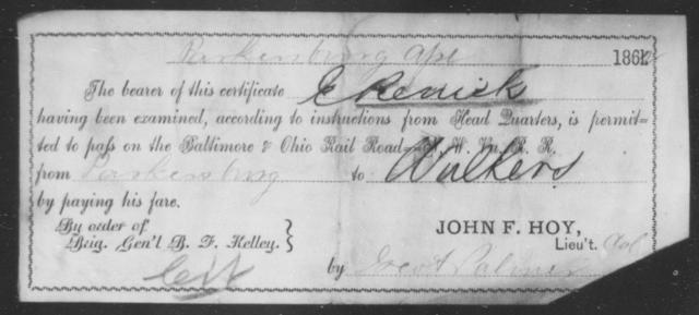 Renick, E - State: Ohio - Year: 1862