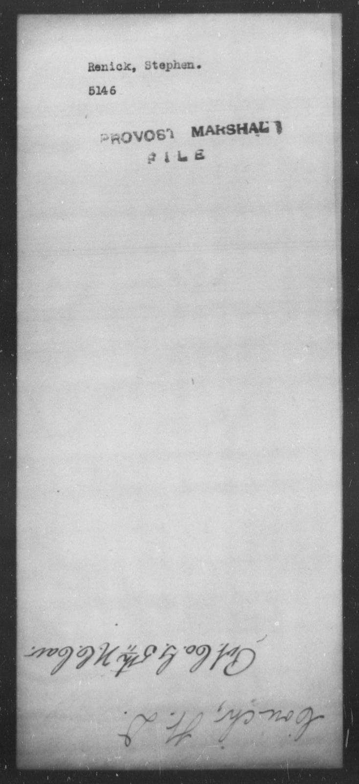 Renick, Stephen - State: [Blank] - Year: [Blank]