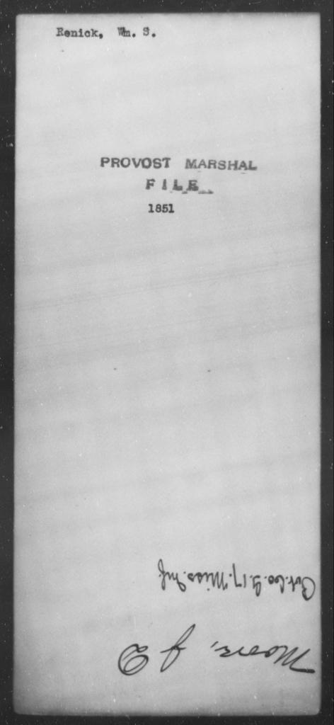 Renick, Wm S - State: [Blank] - Year: [Blank]