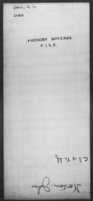 Renor, W T - State: [Blank] - Year: [Blank]