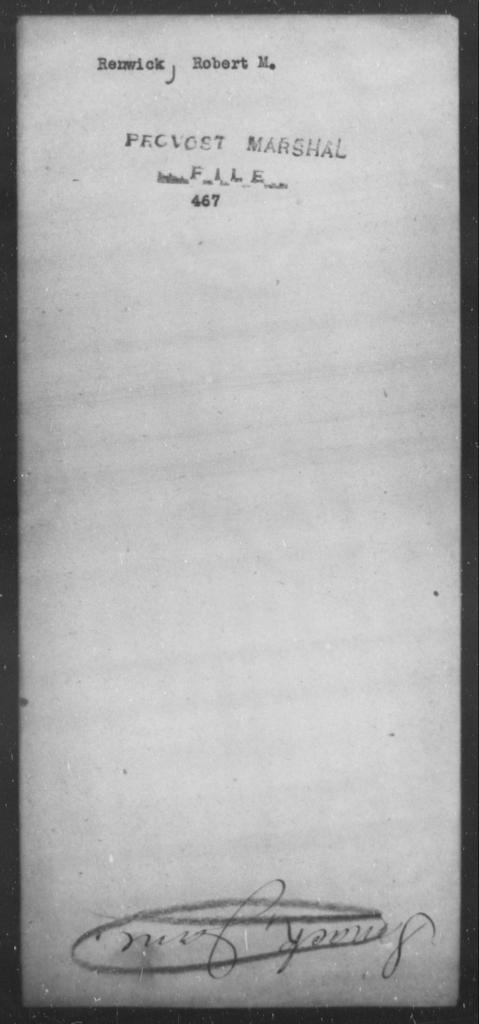 Renwick, Robert M - State: [Blank] - Year: [Blank]