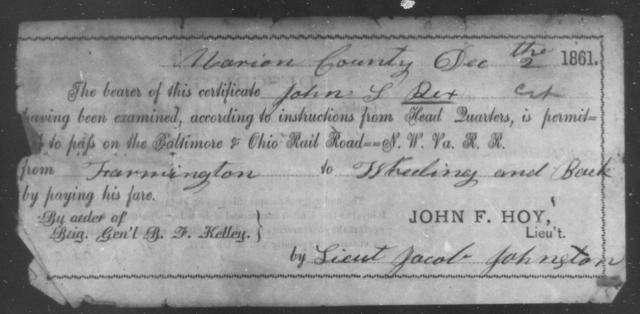 Rex, John T - State: Ohio - Year: 1861