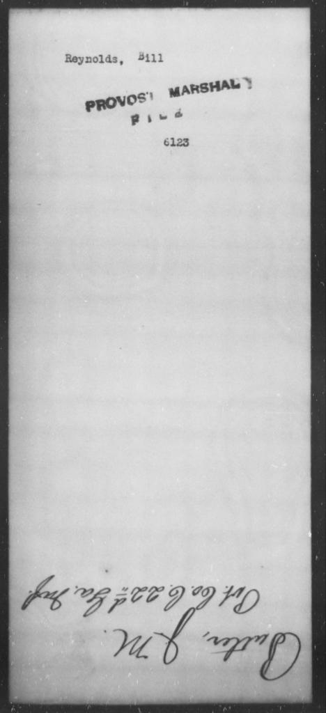 Reynolds, Bill - State: [Blank] - Year: [Blank]