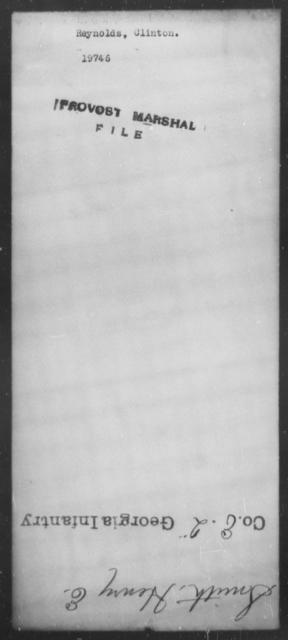 Reynolds, Clinton - State: [Blank] - Year: [Blank]