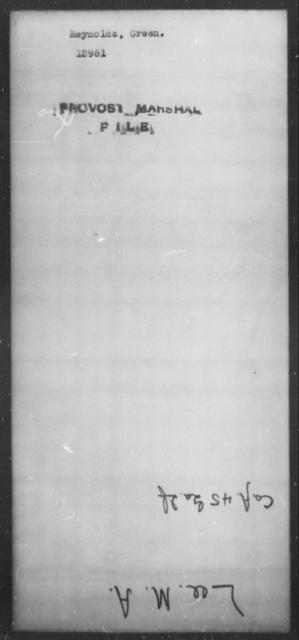 Reynolds, Green - State: [Blank] - Year: [Blank]