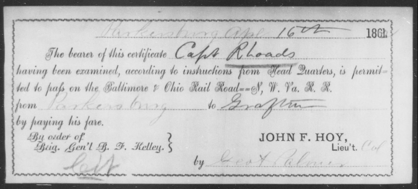 Rhoades, [Blank] - State: [Blank] - Year: 1862