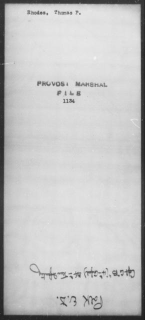 Rhodes, Thomas P - State: [Blank] - Year: [Blank]