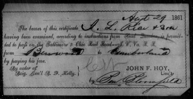 Rice, J L - State: Ohio - Year: 1861