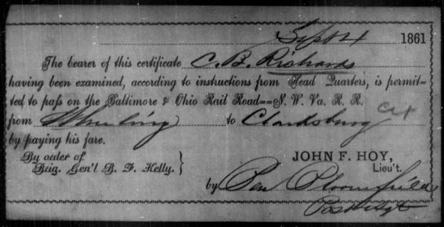 Richard, C B - State: Ohio - Year: 1861