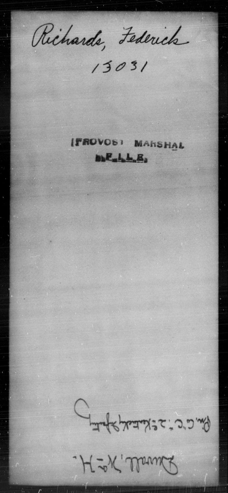 Richards, Federick - State: [Blank] - Year: [Blank]