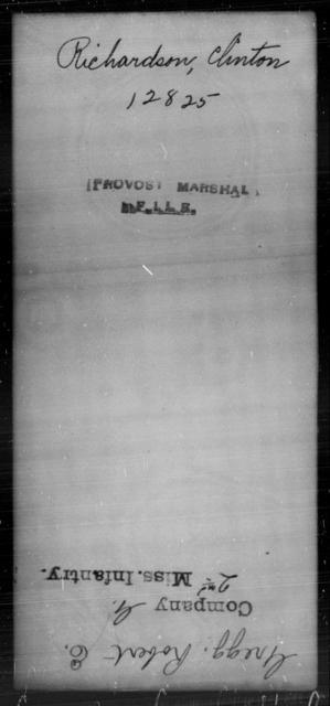 Richardson, Clinton - State: [Blank] - Year: [Blank]