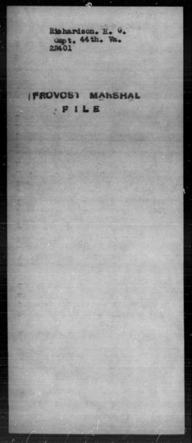 Richardson, Henry G - State: Virginia - Year: [Blank]