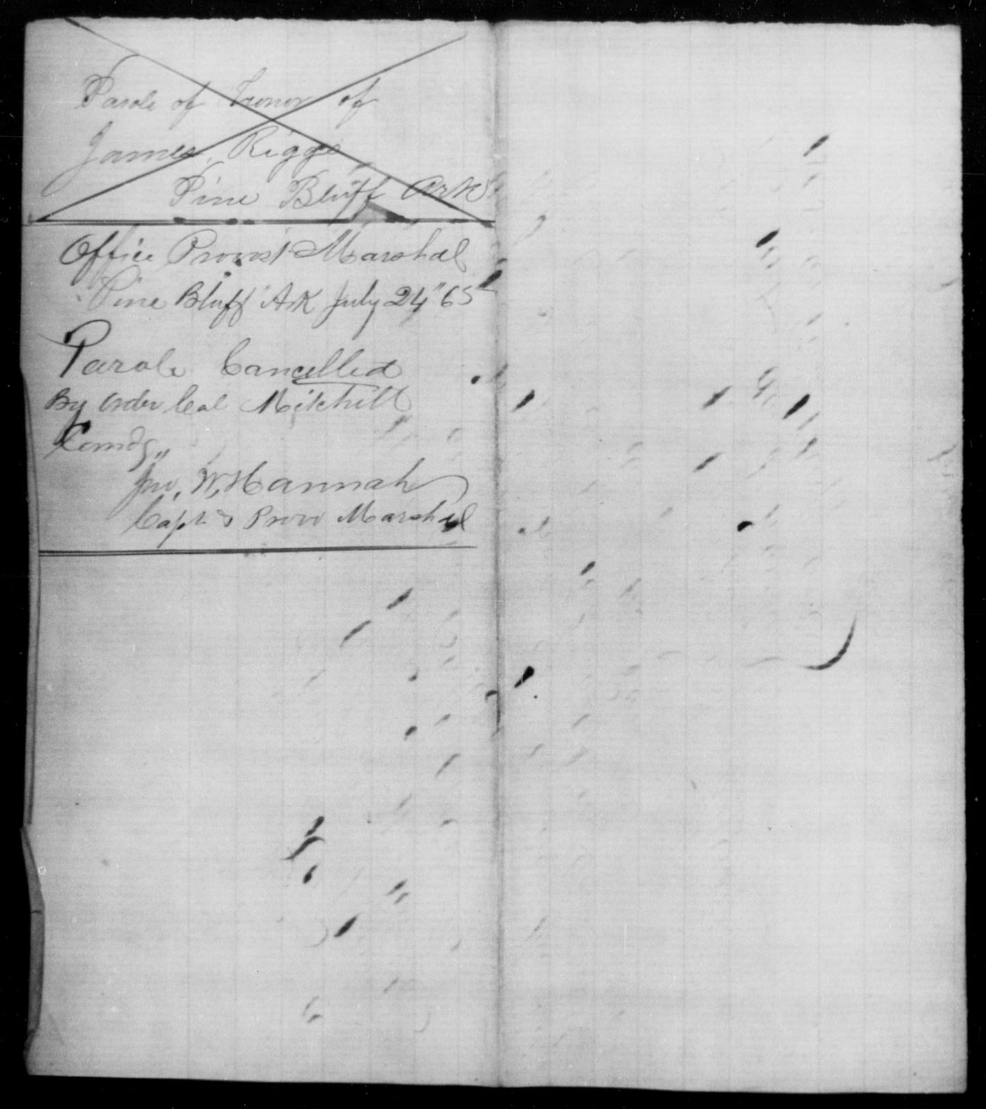 Riggs, James - State: Arkansas - Year: 1865